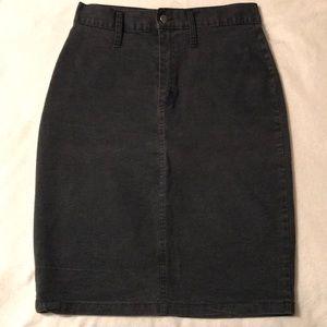 Dresses & Skirts - 🌺 Vintage black jean skirt. Size 15/16.